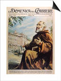 "Francesco Forgione Name in Religion Pio de Pietrelcina Known as ""Padre Pio"" Capucin Friar Prints by Walter Molini"