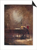 Frederic Chopin Polish Musician Composing His C Minor Etude Poster by Norman Price
