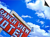 Weather-Beaten Sign of Roadside Hotel Prints by Ray Laskowitz