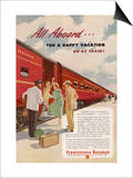 Promoting the Pennsylvania Railroad Poster
