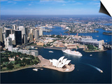 Sydney Harbour, with Opera House and Ms Europa in Centre, Sydney, New South Wales, Australia Art by Holger Leue