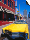 Classic Open-Topped Car Parked on West 6Th Street, Austin, Texas Prints by Richard Cummins