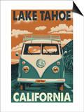 Lake Tahoe, California - VW Van Prints by  Lantern Press