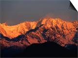 Annapurna Range, Nepal Print by Carol Polich