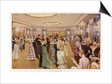 The Dorchester the Ballroom Print by Fortunio Matania