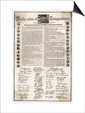 Declaration of Independence Document Posters
