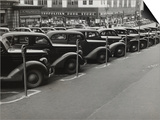 Black Cars and Meters, Omaha, Nebraska, c.1938 Plakat af John Vachon