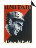 Buenaventura Durruti Communist Militant Leader During Spanish Civil War Posters