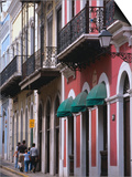 Building Facades in the Old Quarter of San Juan, San Juan, Puerto Rico Poster by Alfredo Maiquez