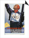 1936 Berlin Winter Olympics Art