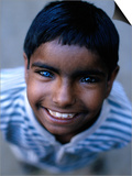 Boy with One Blue and One Brown Eye, Nawalgarh, Rajasthan, India Prints by Daniel Boag