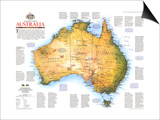 1988 Travelers Look At Australia Map Prints
