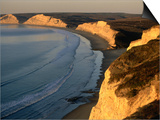Drakes Beach and the Cliffs at Sunrise, Point Reyes National Seashore, California Poster by John Elk III