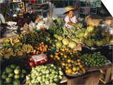 Fruit and Vegetable Market, Ban Don, Thailand Prints by Richard Nebesky