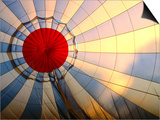 Inside an Inflating Hot-Air Balloon at Dawn Print by Dallas Stribley