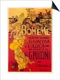 Puccini, La Boheme Art by Adolfo Hohenstein