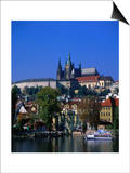 Old Town and Hradcany Castle, Prague, Central Bohemia, Czech Republic Prints by Jan Stromme