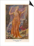 Ishtar, The Babylonian Goddess of Fertility and Love Prints by Evelyn Paul