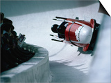 Bobsled in the Bobsleigh Bullet at Canada Olympic Park, Calgary, Canada Prints by Rick Rudnicki