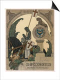 Saint George Praying after Slaying the Dragon Posters by Heinrich Lefler