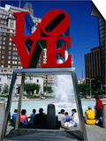 Sculpture in Love Park, Philadelphia, Pennsylvania Prints by Margie Politzer
