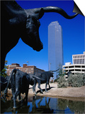 Cattle-Drive Sculptures at Pioneer Plaza, Dallas, Texas Art by Richard Cummins