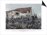 The Fighting at la Haye-Sainte Posters by R Knoetel
