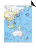 1989 Asia-Pacific Map Print