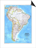 1992 South America Map Posters by  National Geographic Maps