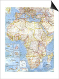 1960 Africa Map Poster