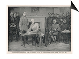 General Lee Surrenders to General Grant at Appomattox Court House Affiches