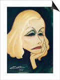 Greta Garbo Swedish-American Film Actress: a Caricature Posters by Nino Za
