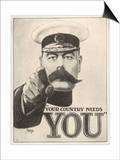 Your Country Needs You, Featuring Lord Kitchener Prints by Alfred Leeze