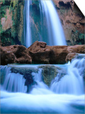 Havasu Falls, Havasupai Indian Reservation, Grand Canyon National Park, Arizona Poster by Mark Newman
