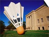 Giant Shuttlecock Sculpture at Nelson-Atkins Museum of Art, Kansas City, Missouri Art by Richard Cummins
