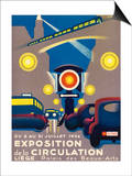 Poster for the Exposition de la Circulation Held at Liege Belgium Prints by  Poleff