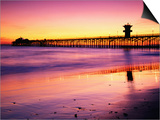 Seal Beach Pier at Sunset, California Print by Richard Cummins