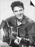 Elvis Presley American Pop Singer Guitarist and Actor in Musical Films Seen Here with His Guitar Posters