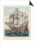 The Ship of Sir Francis Drake Formerly Named Pelican Posters by Fred Law
