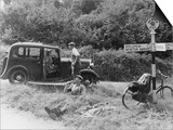 1935 Standard 10 in the Devon Countryside Prints