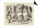 Alice Meets Tweedledum and Tweedledee Prints by John Tenniel