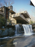Fallingwater, State Route 381, Pennsylvania Plakater af Frank Lloyd Wright