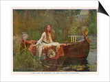 The Lady of Shalott Floating Down the River Posters by John William Waterhouse
