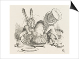 The Hatter's Mad Tea Party the Hatter and the Hare Put the Dormouse in the Tea-Pot Art by John Tenniel