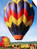 Balloon Landing, Napa Valley, California Posters by John Elk III