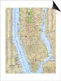 1964 Tourist Manhattan Map Prints by  National Geographic Maps