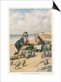 The Walrus and the Carpenter Reprodukcje autor John Tenniel