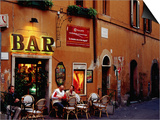 Outside Bar at Trastevere, Rome, Lazio, Italy Art by Izzet Keribar