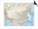 1991 China Map Posters