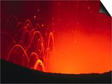 Yasur Volcano Lava Explosion, Tanna Island, Tafea, Vanuatu Prints by Peter Hendrie